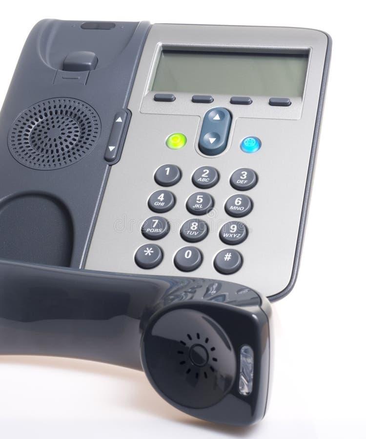 Weißhintergrund IP-Phoneon stockfoto