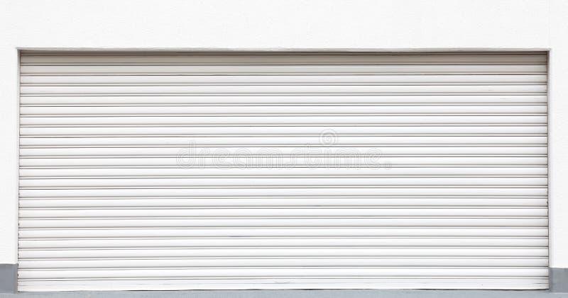 Weißmetallfensterläden lizenzfreie stockfotografie
