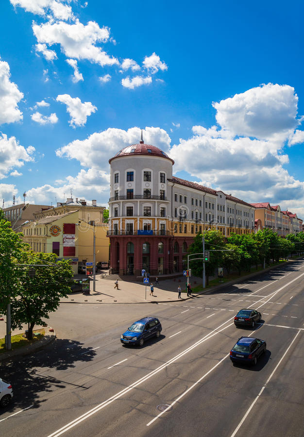 Weißrussland, Minsk, Nemiga lizenzfreies stockfoto