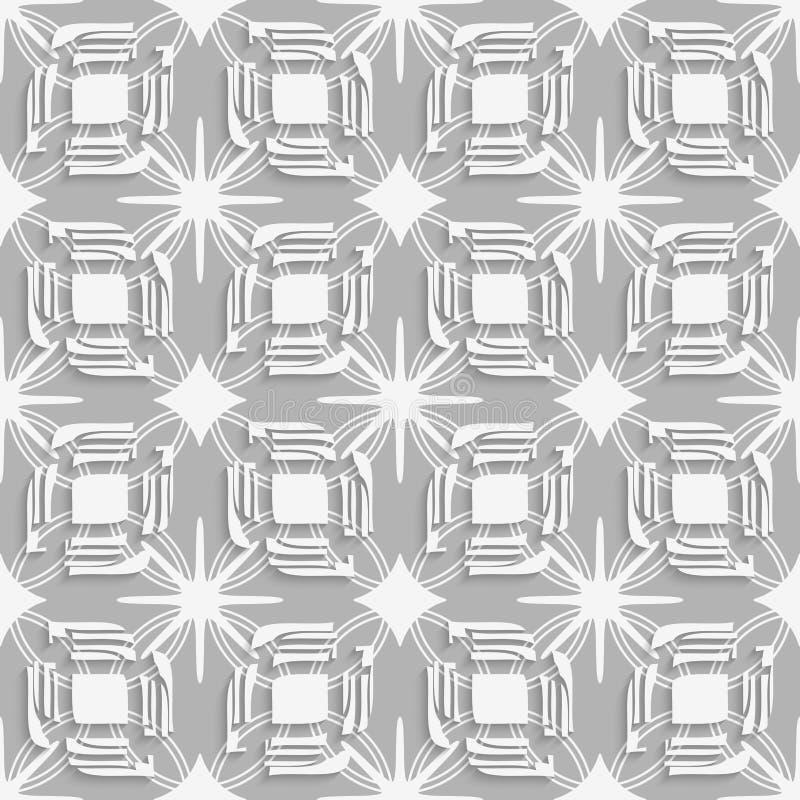 Weißspaltenblätter auf grauem nahtlosem vektor abbildung
