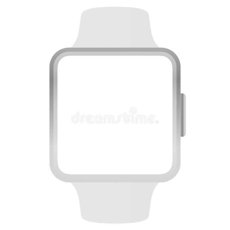 Weißvektormodell der Apple Watch in Weiß isoliert vektor abbildung
