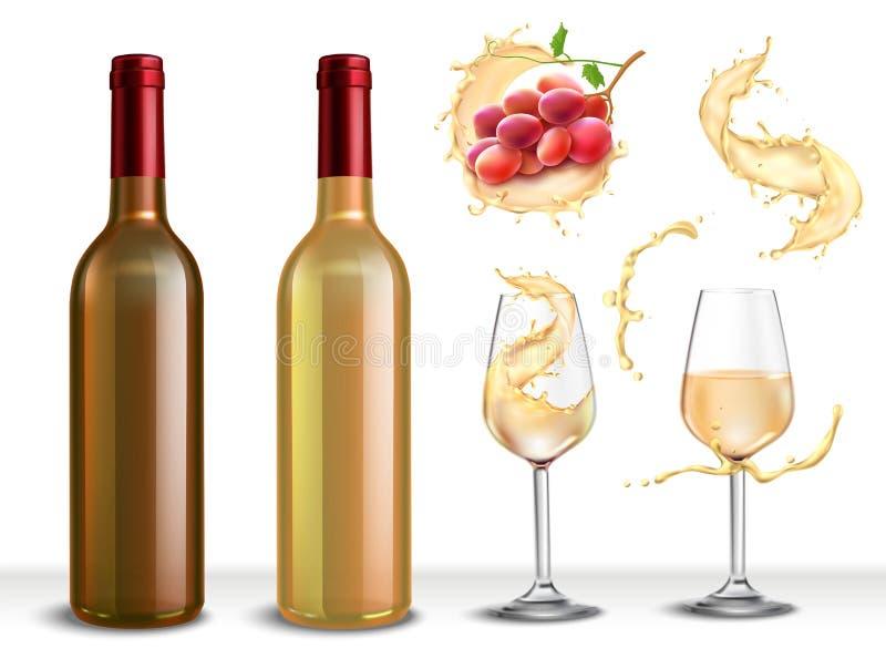 Weißwein-Umhüllungs-Satz lizenzfreie abbildung