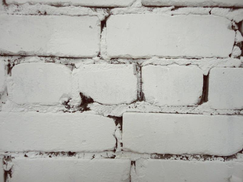 Weiße Backsteinmauer als Tendenz stockbild