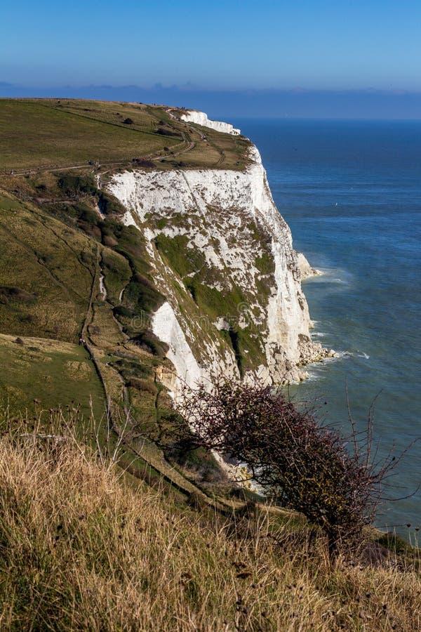 Weiße Klippen von Dover in Kent, England, Vereinigtes Königreich stockbild