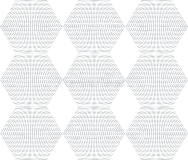 Weiße nahtlose Beschaffenheit Netzhintergrund mit Rauten, Sterne stock abbildung