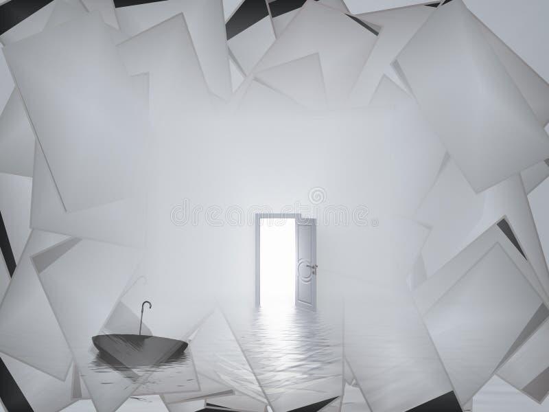 Weiße Tür lizenzfreie abbildung
