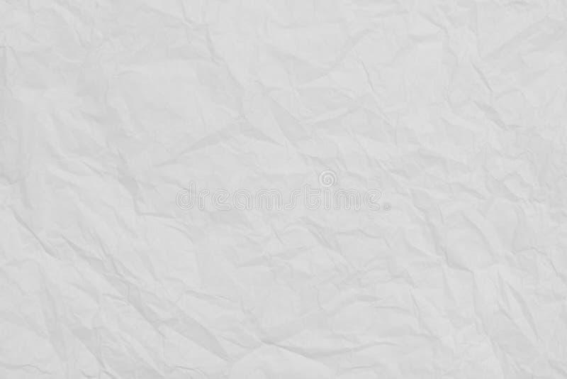 Weißer gefalteter Seidenpapier-Beschaffenheitshintergrund stockfotos