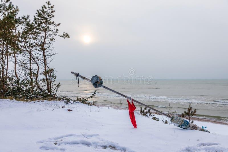 Weißer Schnee-befleckter See stockfoto