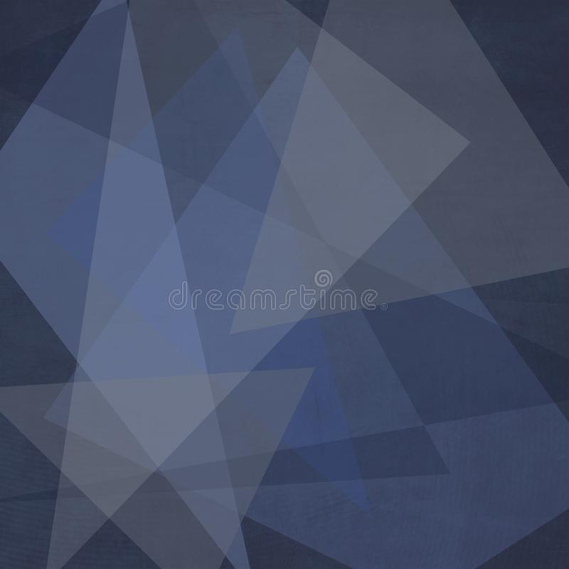 Weißes gestreiftes Muster und Blöcke des abstrakten dunkelblauen Hintergrundes in den diagonalen Linien mit blauer Beschaffenheit vektor abbildung
