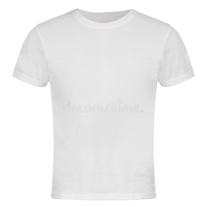 Weißes leeres T-Shirt Front Isolated stockfotografie
