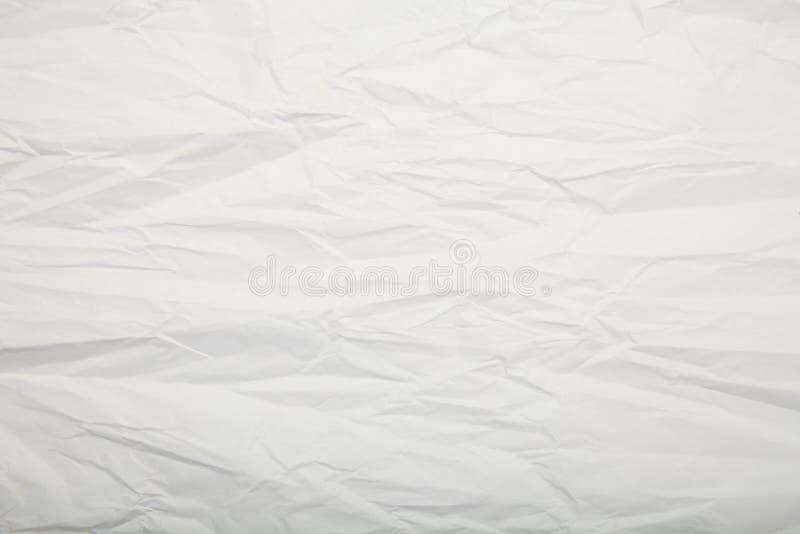 Wei?e zerknitterte Papierbeschaffenheit leerzeichen lizenzfreie stockfotografie