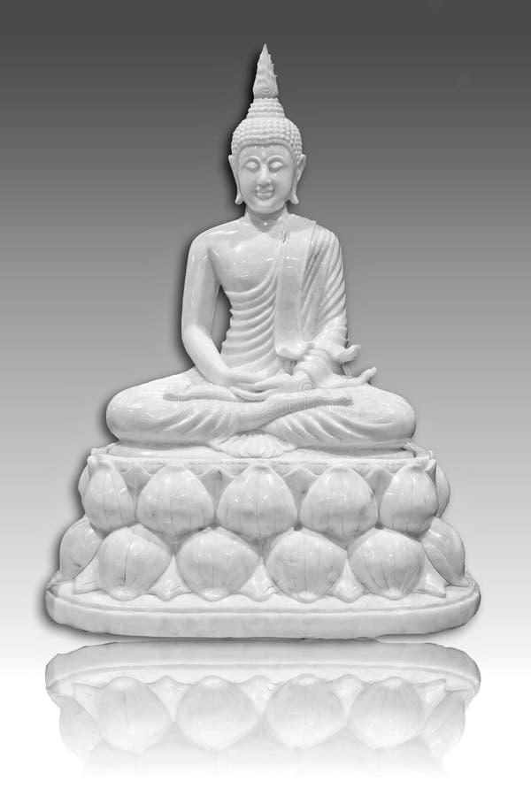 Wei?er Buddha stockfoto
