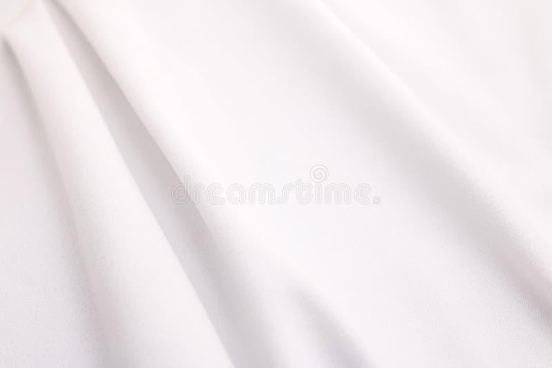 Wei?er Gewebebeschaffenheitshintergrund Abstraktes Stoffmaterial lizenzfreies stockbild