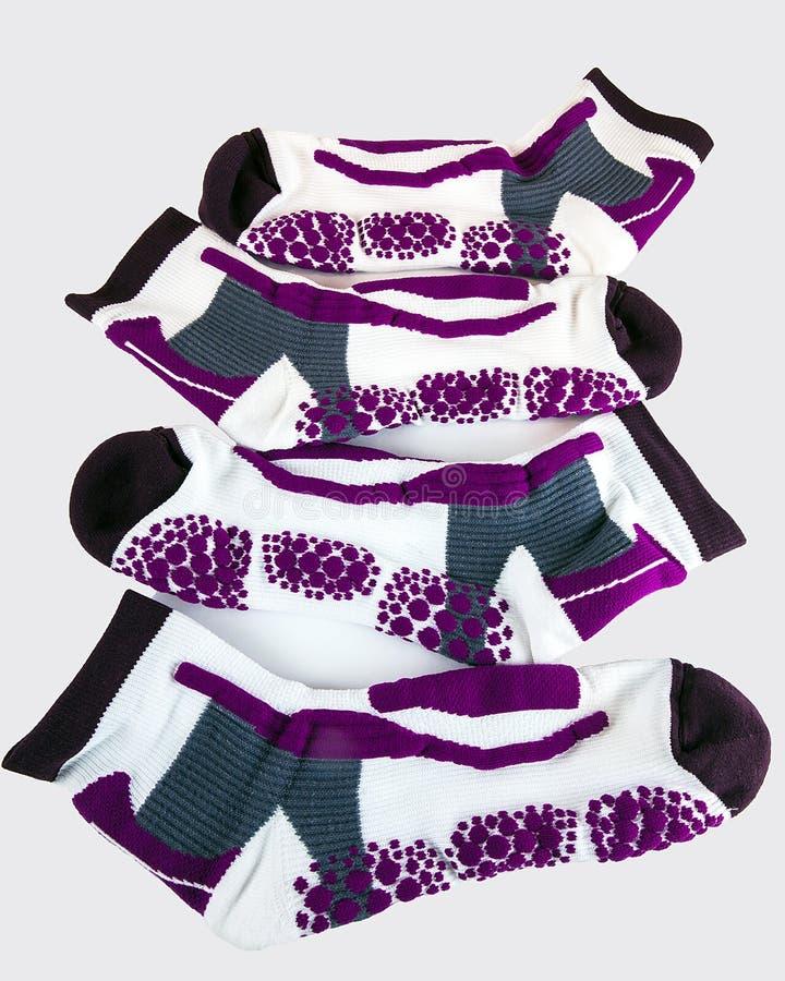 Weibliche Antiblase trägt Socke zur Schau lizenzfreie stockfotografie