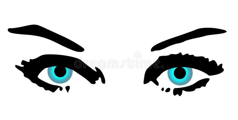 Weibliche blaue Augen lizenzfreie abbildung