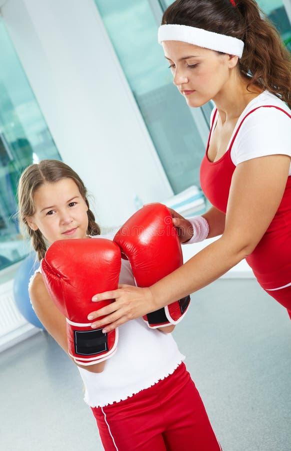 Weibliche Boxer lizenzfreies stockfoto
