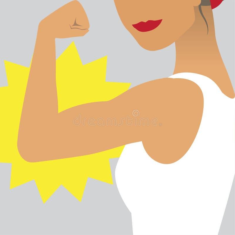 Weibliche Energie- und Stärkeillustration lizenzfreie abbildung