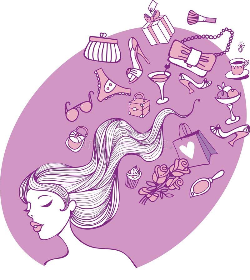 Weibliche Gedanken Lizenzfreies Stockfoto