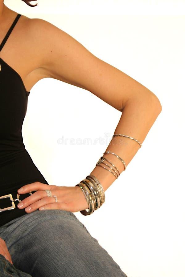 Weibliche Haltung lizenzfreies stockbild