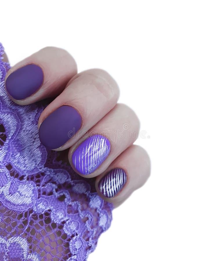Weibliche Hand, Manikürespitze lackiert, Farbe, Polier lizenzfreies stockfoto