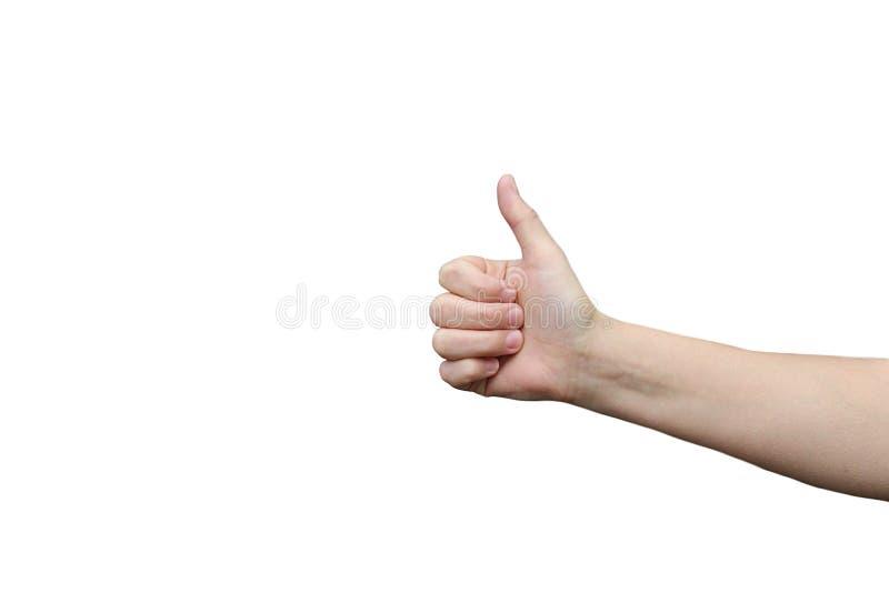 Weibliche Hand zeigt, dass alle gut ist lizenzfreies stockbild
