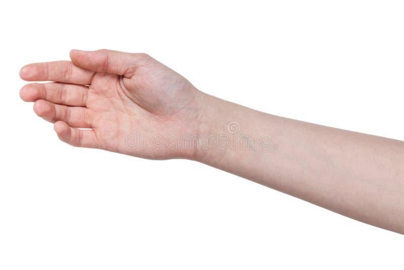 Weibliche jugendlich Hand der Hoffnung stockbild