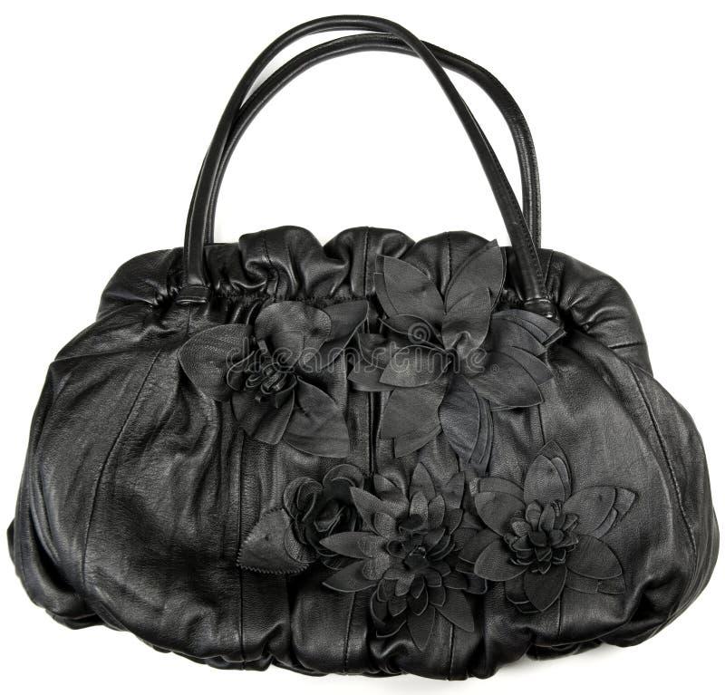 Weibliche lederne Handtasche des Entwerfers lizenzfreies stockfoto