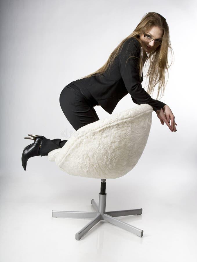 Weibliche Manager-PAUSEn stockfotos