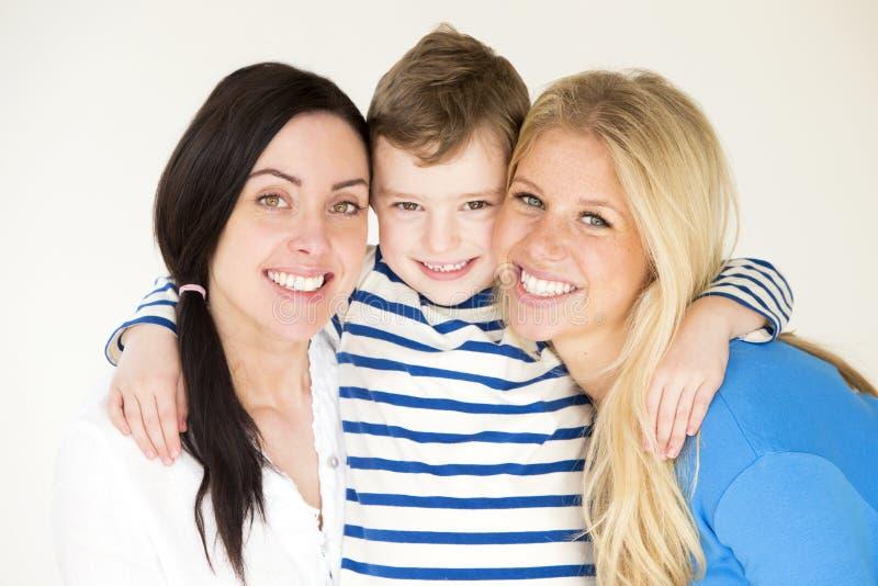 Weibliche Paare mit Sohn lizenzfreies stockfoto