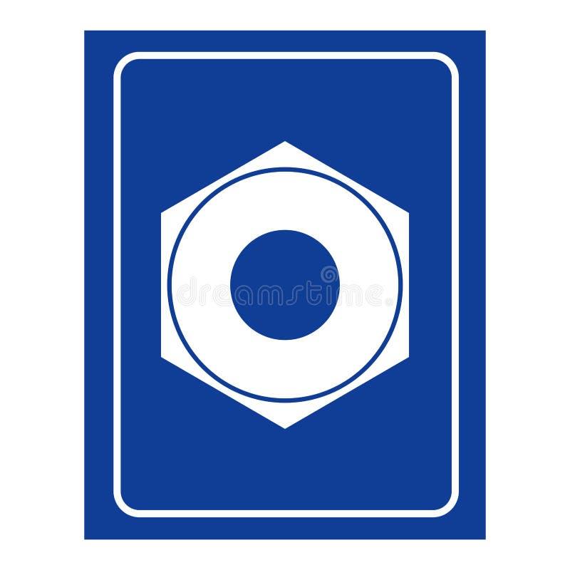 Weibliche Schraubendamentoiletteikone Logo für WC-Frauen stock abbildung