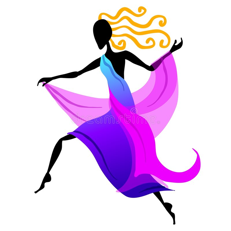 Weibliche Tänzer-Abbildung 2 stock abbildung