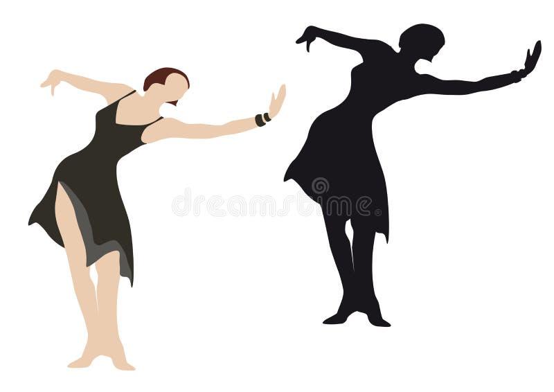 Weibliche Tänzerabbildung stock abbildung
