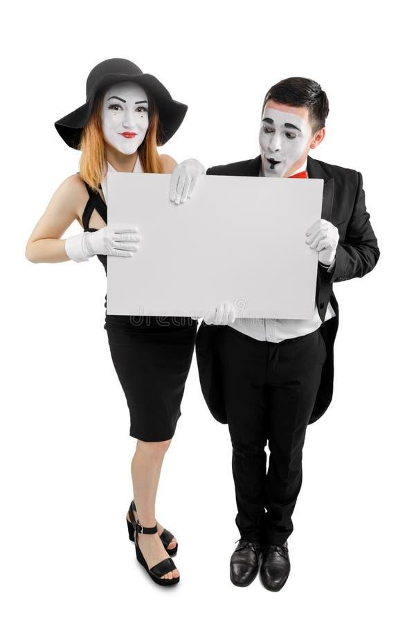 Weibliche und männliche Pantomimen stockfotos