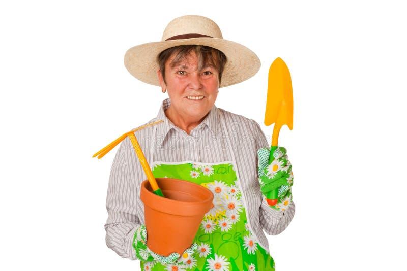 Weiblicher Älterer lizenzfreie stockbilder