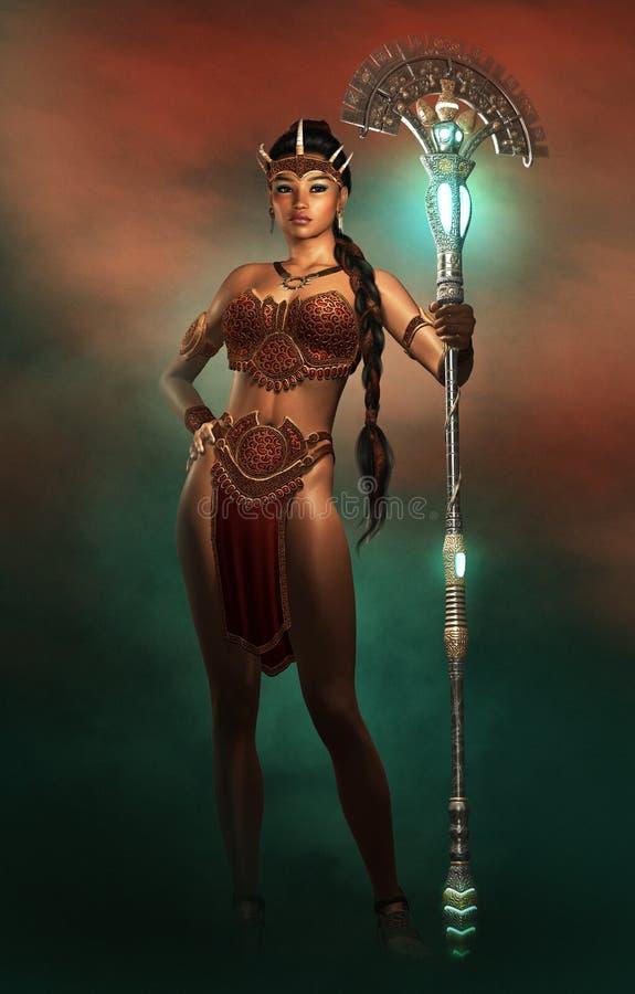 Weiblicher Amazonas, 3d CG stock abbildung
