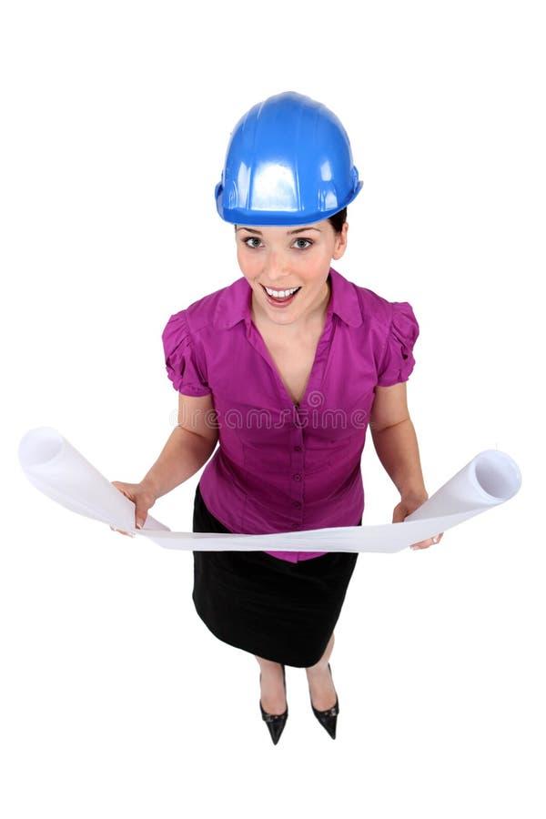 Weiblicher Architekt stockfoto