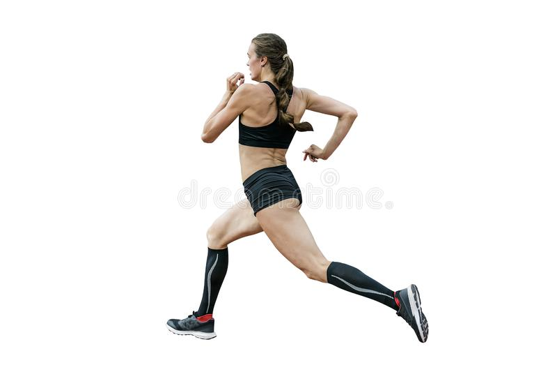 Weiblicher Athlet Runner lizenzfreies stockbild