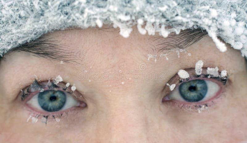 Weiblicher Augenabschluß-u stockfoto