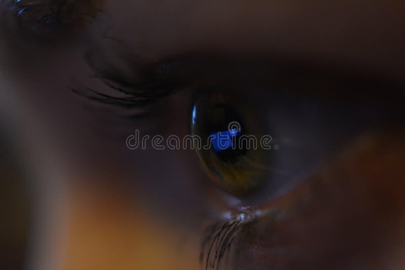Weiblicher Augenabschlu? oben stockfotografie