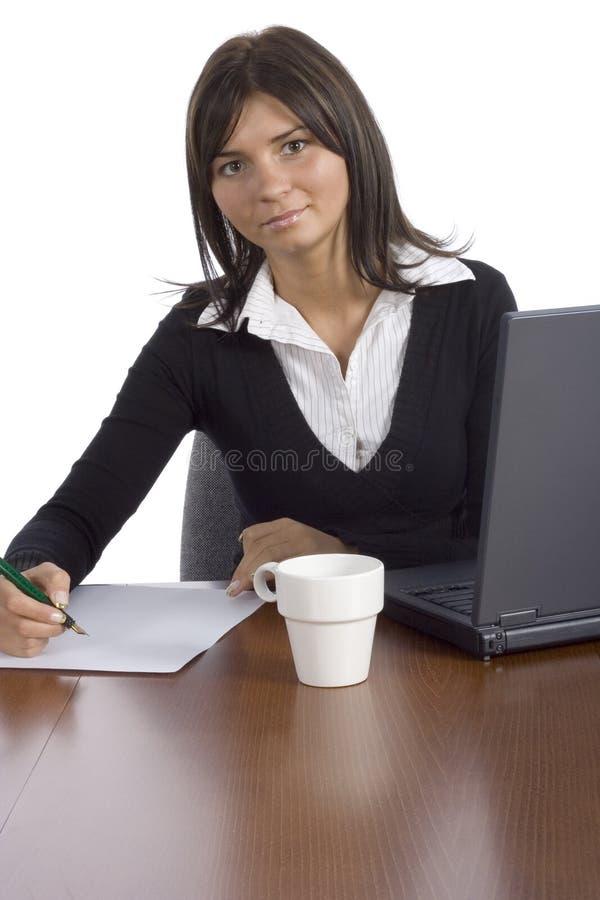Weiblicher Büroangestellter stockfotos