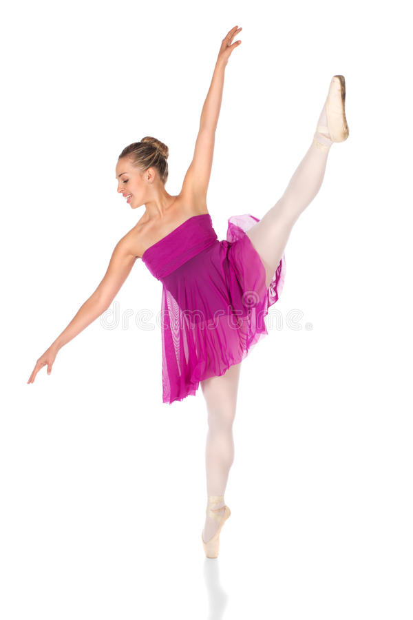 Weiblicher Balletttänzer stockfotografie