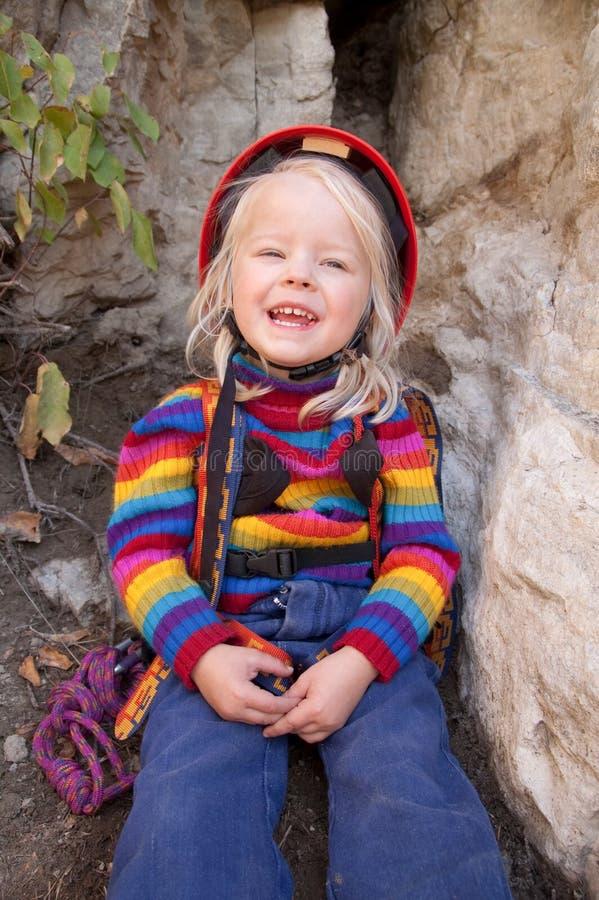 Weiblicher Bergsteiger lizenzfreies stockfoto