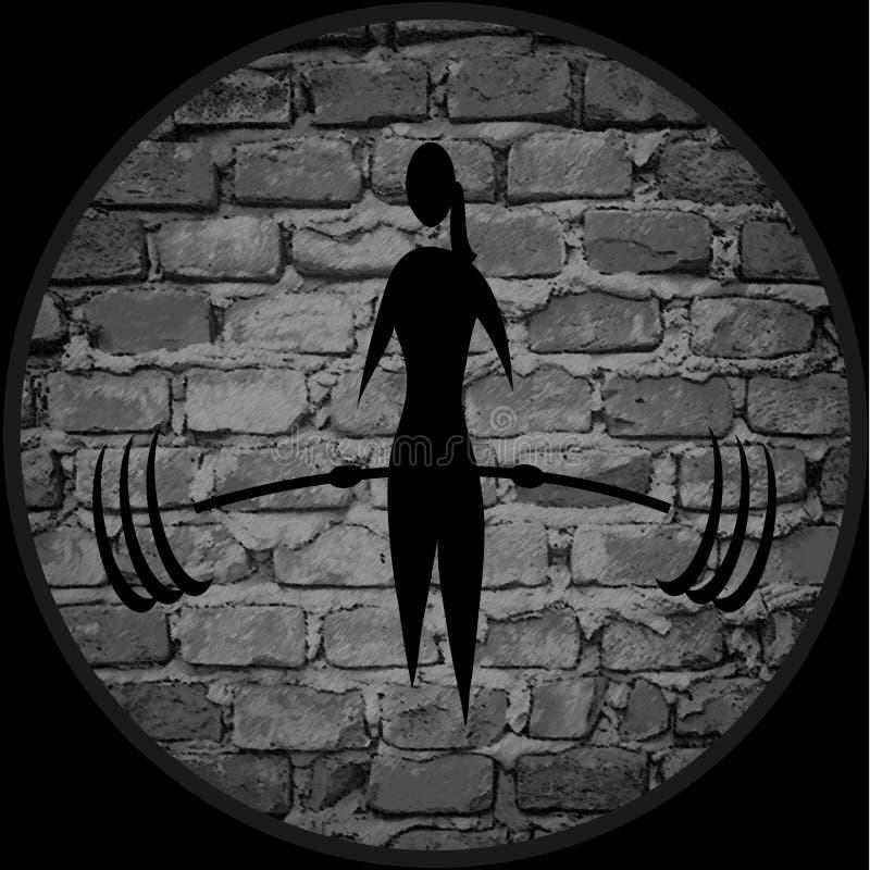 Weiblicher Bodybuilder lizenzfreie abbildung