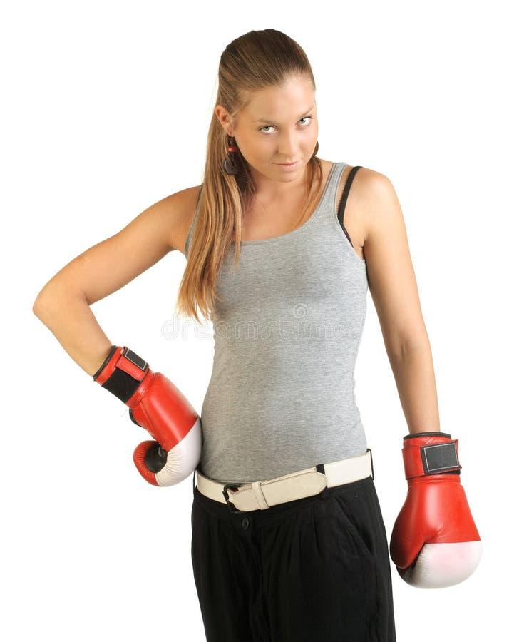 Weiblicher Boxer lizenzfreies stockfoto