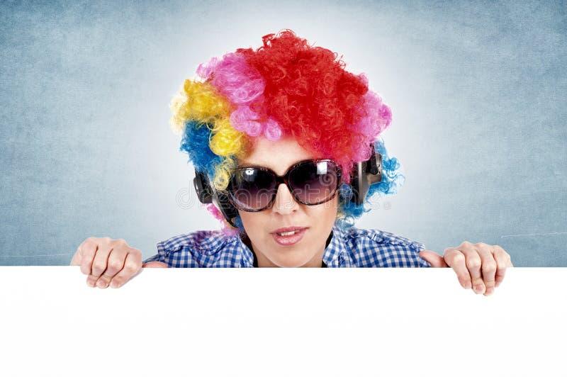 Weiblicher Clown stockfotografie