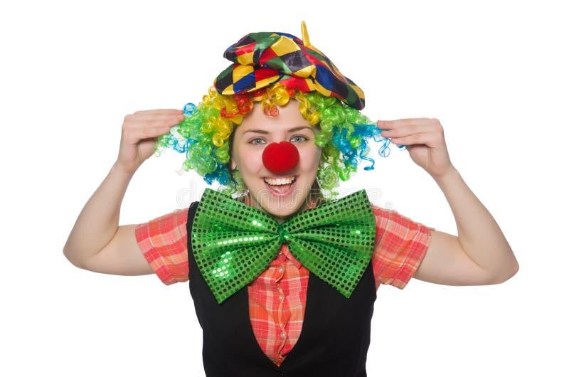 Weiblicher Clown lizenzfreie stockbilder