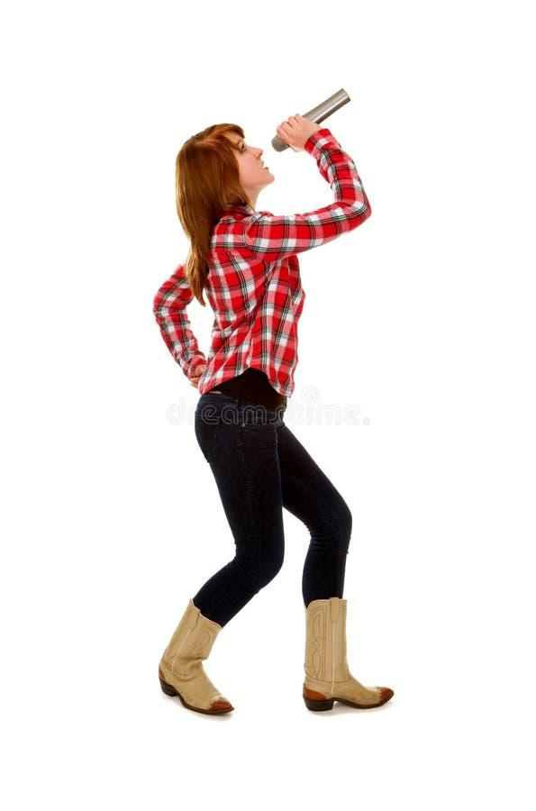 Weiblicher Country-Sänger stockfotografie