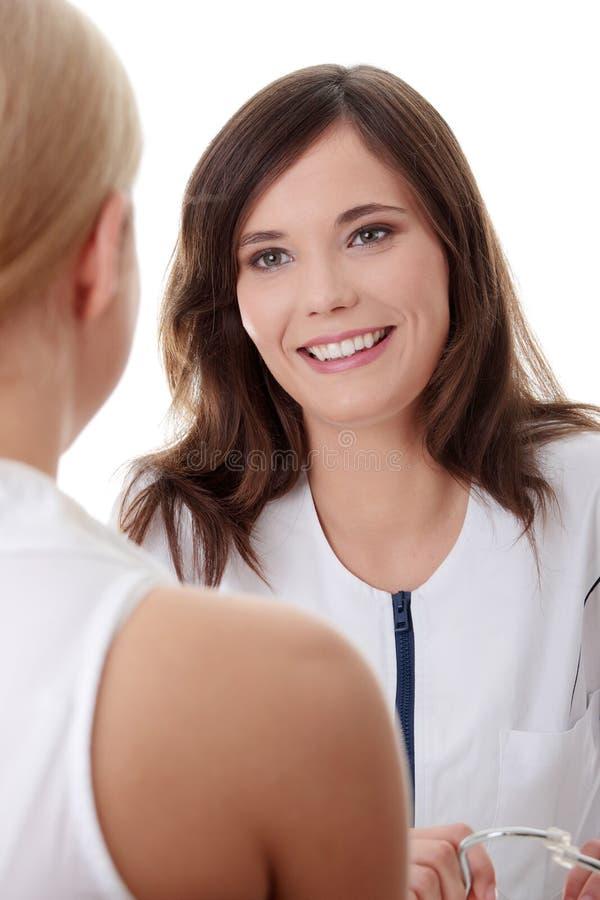 Weiblicher Doktor lizenzfreie stockfotos