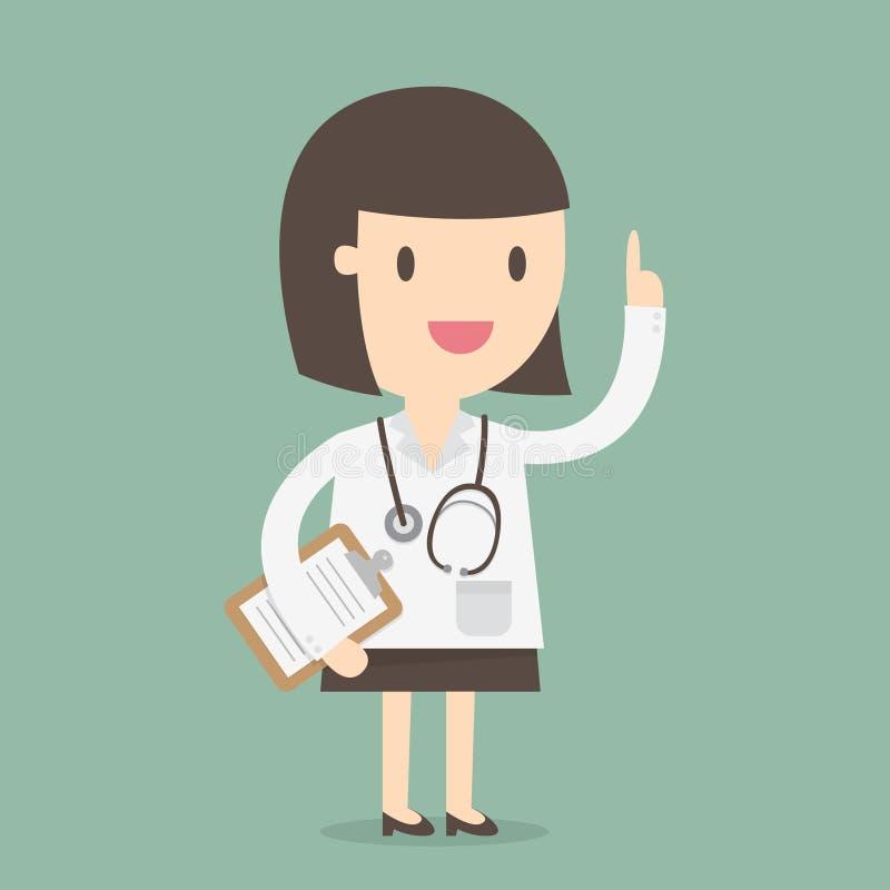 Weiblicher Doktor lizenzfreie abbildung