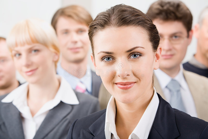 Weiblicher Führer stockfotos